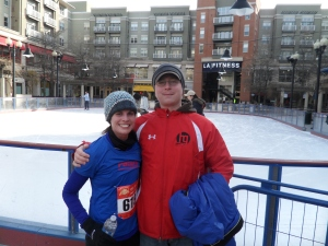 Post Race at Pentagon Row Ice Rink