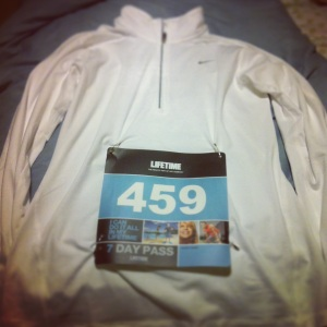 New Nike Half Zip from Pacers, Race Bib Pinned and Ready To Go