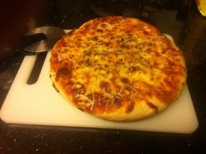 Deep Dish Delicious Buffalo Chicken Pizza