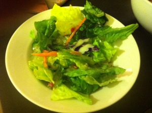 Salad - yes I know it's small - I'm trying!