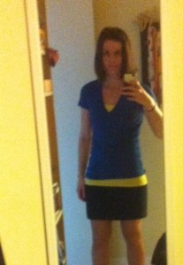 Wearing my blue and yellow for Boston today.