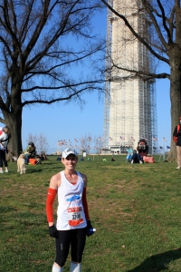 Post-Finish in front of the obviously under construction Washington Monument