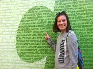 Finding my name on the We Run DC wall!