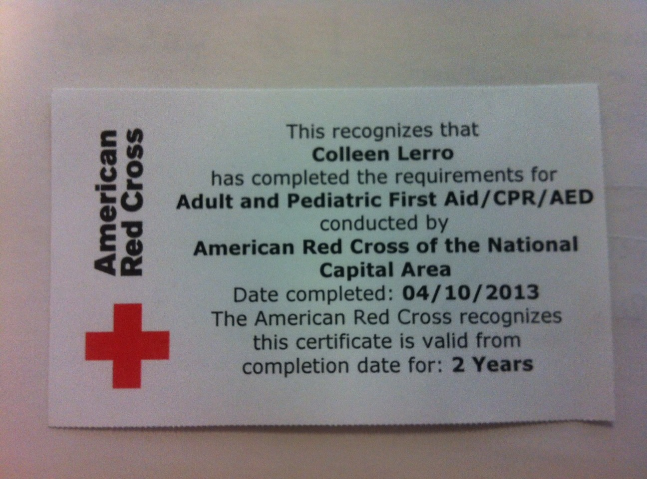 Certification One Is Done First Aidcpraed Heart Sole