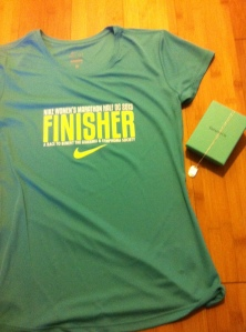 Finishers Tee and Necklace