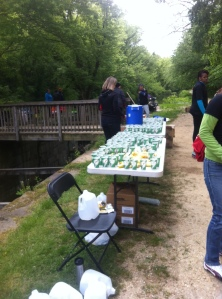 Aid Station at Lock 7