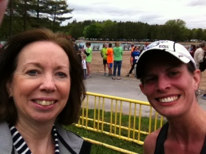 At the finish line with Mom!