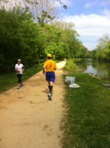 Runners on the C&O path