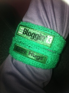 Free Hugs Wrist Bands at FitBloggin