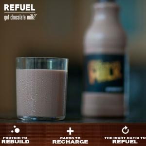 Chocolate milk nutrition lockup