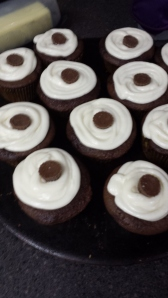 PB Filled Choco Cupcakes