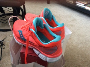 New Saucony Kinvaras courtesy of a Pacers Running Store contest!