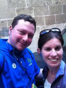 Rocking our earbuds for the audio tour so we could hear the tour guide, but still wander on our own!
